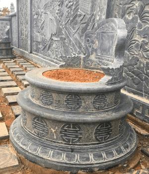 Mộ Tổ Đá hình tròn lắp tại Khu Lăng Mộ Nghệ An