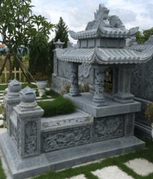 Lăng Mộ Đá Hai Mái Đẹp lắp tại Quảng Nam