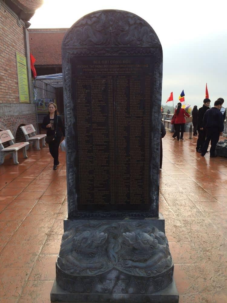 Bia công đức chùa tháp Tường Long - Hải Phòng